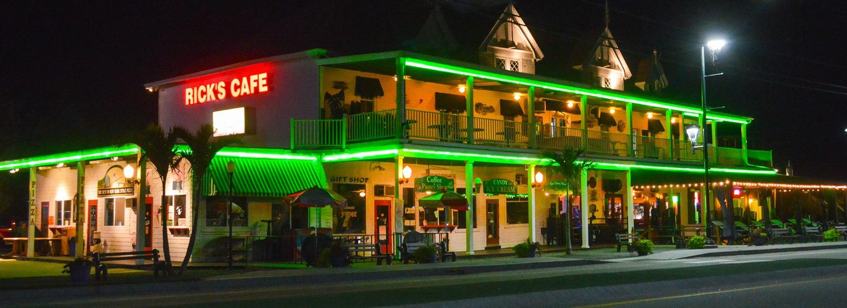 Rick's Cafe at night